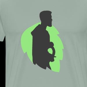 pregnancy beer belly hops - Men's Premium T-Shirt
