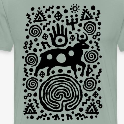 Bull and the Brain by Qenjo - Men's Premium T-Shirt