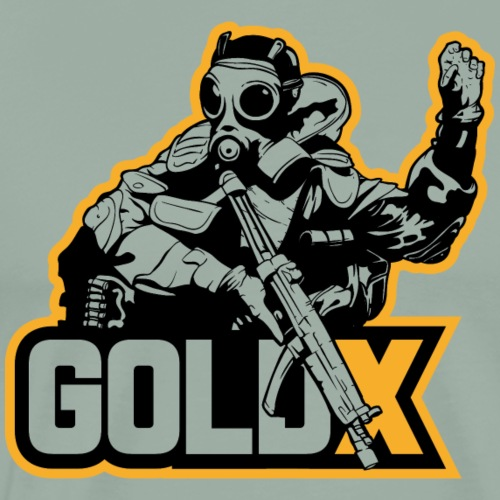 goldX Outlined - Men's Premium T-Shirt