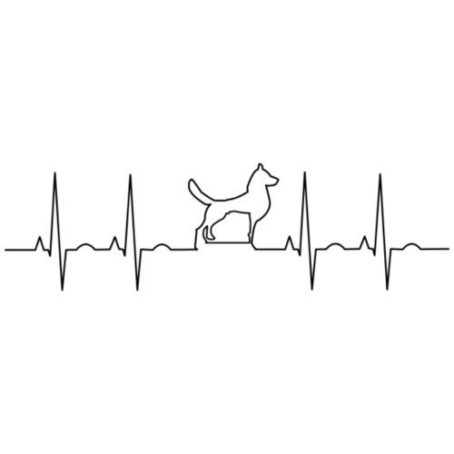 Dog EKG - Men's Premium T-Shirt