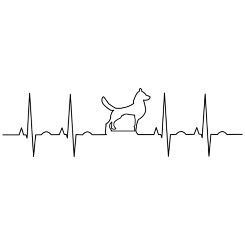 Dog EKG - Men's Premium T-Shirt