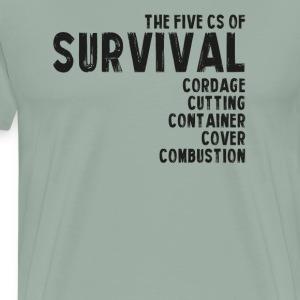 5Cs of Survial List - Men's Premium T-Shirt