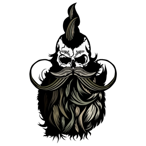 skull hipster punk bearded mustache beard tattoo s - Men's Premium T-Shirt