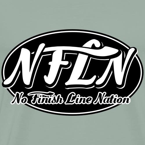 NFLN black logo - Men's Premium T-Shirt