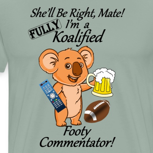 Footy Commentator Black Letters for Light Shirts - Men's Premium T-Shirt