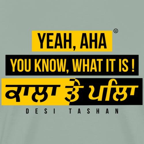Black and Yellow - Men's Premium T-Shirt