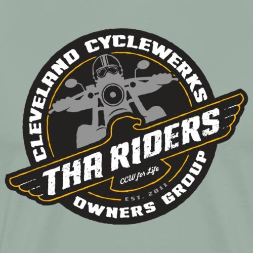 Tha Riders Cog Logo Black Background Design - Men's Premium T-Shirt