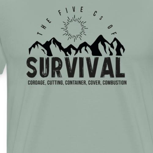 5Cs of Survival Mountain - Men's Premium T-Shirt