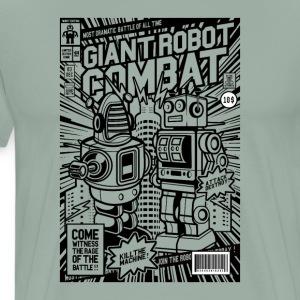 Giant Robot Combat Comic Book Cover - Men's Premium T-Shirt