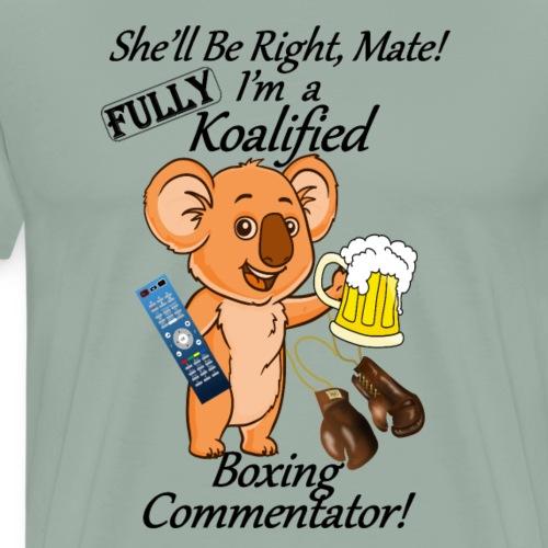 Boxing Commentator Black Lettering - Men's Premium T-Shirt