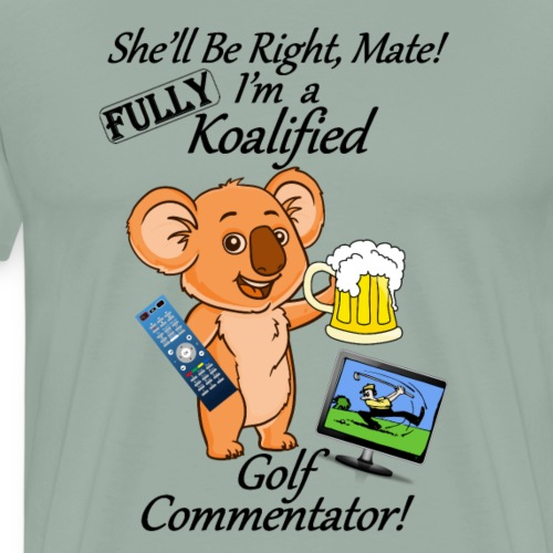Golf Commentator - Black Letters - Men's Premium T-Shirt