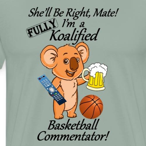 Basketball Commentator black letters - Men's Premium T-Shirt
