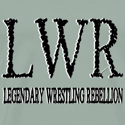 LEGENDARY WRESTLING REBELLION BW - Men's Premium T-Shirt