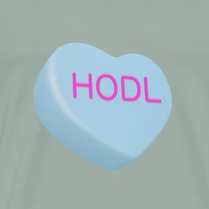 HODL - Hold on For Dear Life - Candy Heart - blue - Men's Premium T-Shirt