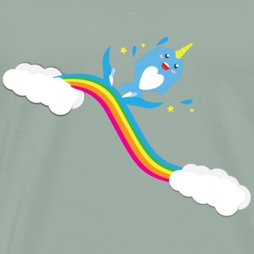 Narwhal Splash - Men's Premium T-Shirt