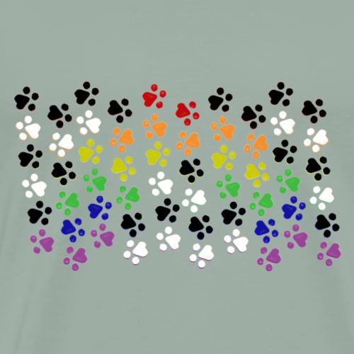 Kitten LGBTQ Pride Ally Flag - Men's Premium T-Shirt