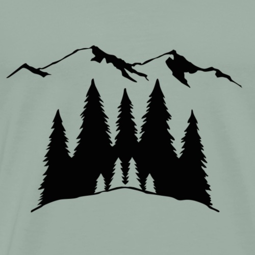 Mountains Trees - Men's Premium T-Shirt