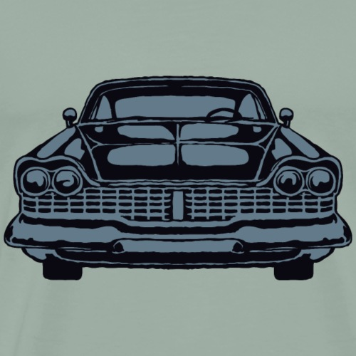 Shape American retro vintage car vector image - Men's Premium T-Shirt