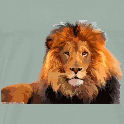 Lion Funny Design - Men's Premium T-Shirt