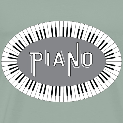 Piano Keys Oval - Men's Premium T-Shirt