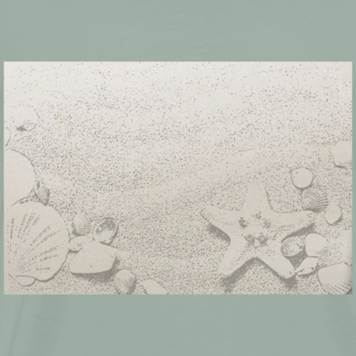 Sand And Shells Sketch - Men's Premium T-Shirt