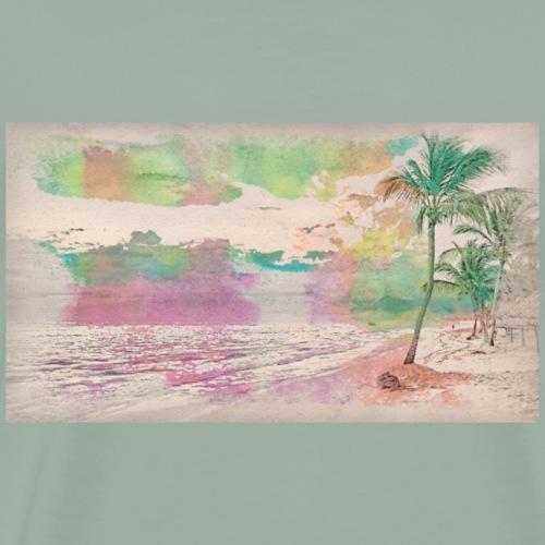 Water Color Beach - Men's Premium T-Shirt
