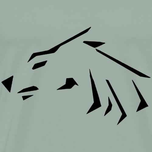 WOLFCryer HAT - Men's Premium T-Shirt