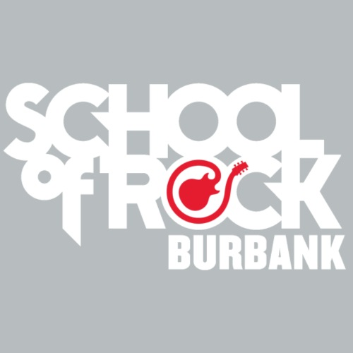 School of Rock Burbank White Logo - Men's Premium T-Shirt