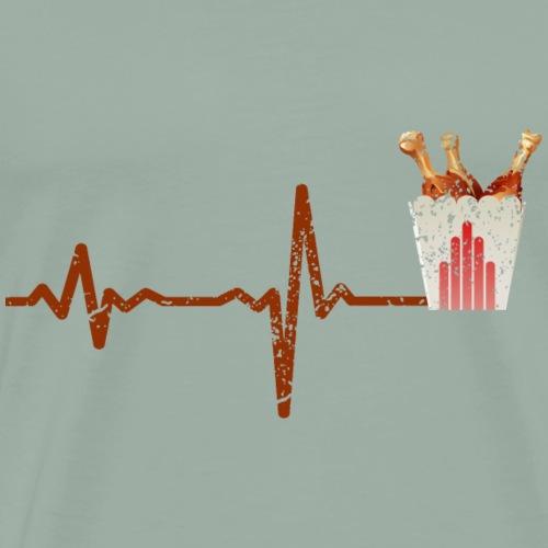 Heartbeat fast food chicken - gift - Men's Premium T-Shirt