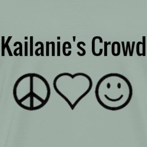 Peace, love, happiness Kailanie's Crowd 3 - Men's Premium T-Shirt