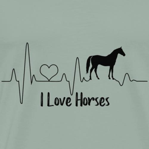 Horse Heartbeat - Men's Premium T-Shirt