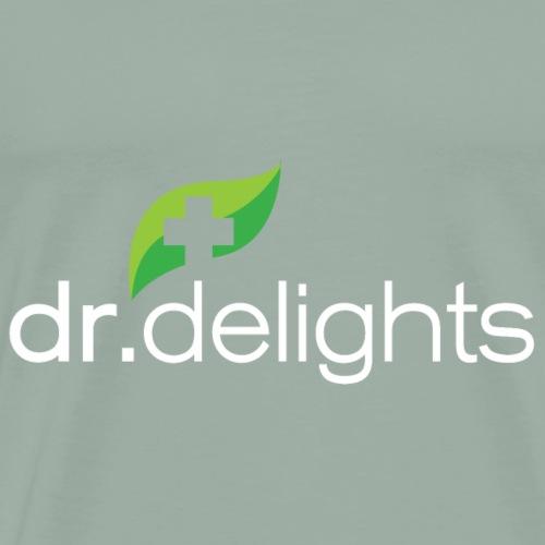 Dr Delights Logo White 4000 pix - Men's Premium T-Shirt