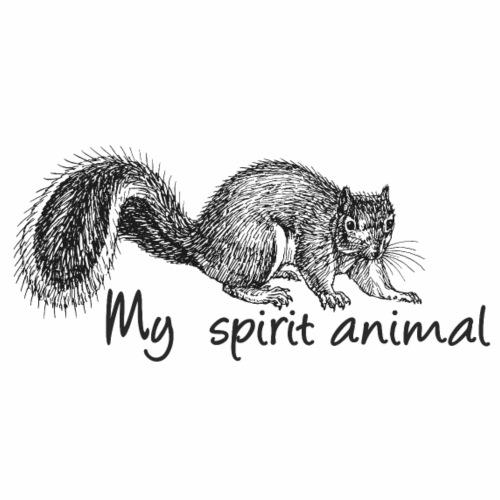 Squirrel My spirit animal - Men's Premium T-Shirt
