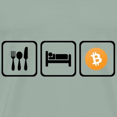 Eat Sleep Bitcoin - Men's Premium T-Shirt