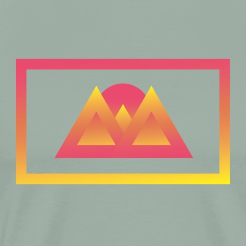 Gradient Valley - Men's Premium T-Shirt