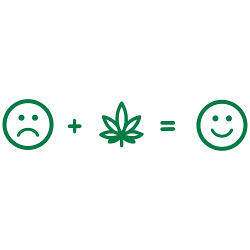 Happy face marijuana - Men's Premium T-Shirt