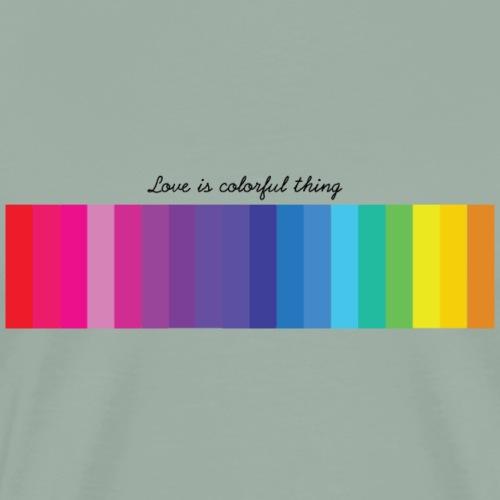 Love colorful thing - Men's Premium T-Shirt