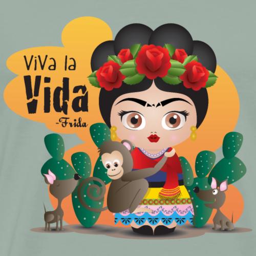 Frida Kahlo Quotes - Men's Premium T-Shirt