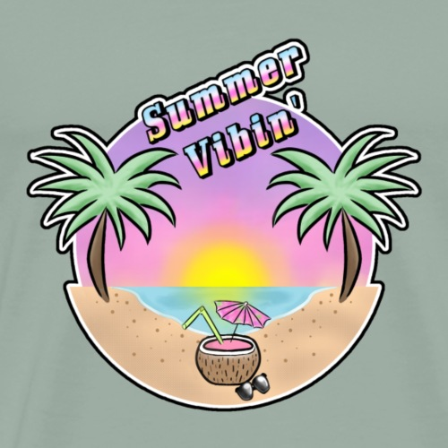 Summer Vibin' - Men's Premium T-Shirt