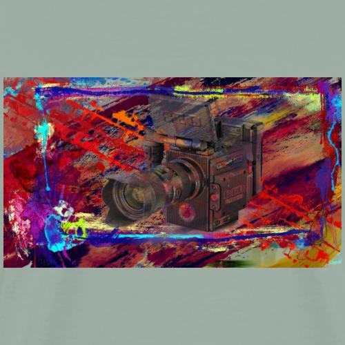 Red Camera Paint Splatter Graphic Design - Men's Premium T-Shirt