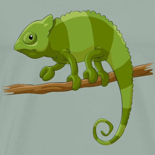 Animal chameleon lizard wildlife fun vector image - Men's Premium T-Shirt