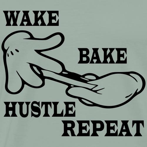 Wake bake hustle repeat - Men's Premium T-Shirt
