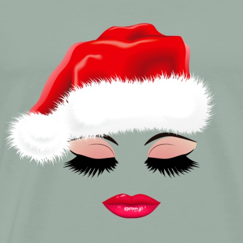 Christmas Sexy Eyelashes and lips. Gifts for girls - Men's Premium T-Shirt
