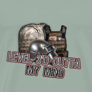 lvl 3 out with red - Men's Premium T-Shirt