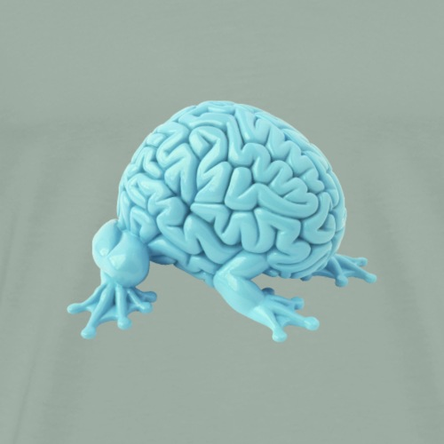 Brainimal, aqua blue - Men's Premium T-Shirt