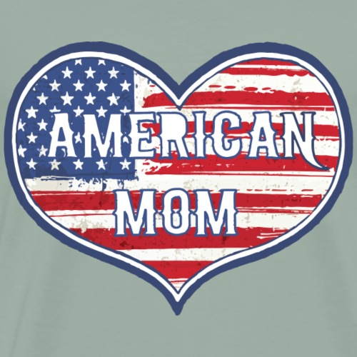 american mom (blue) - Men's Premium T-Shirt