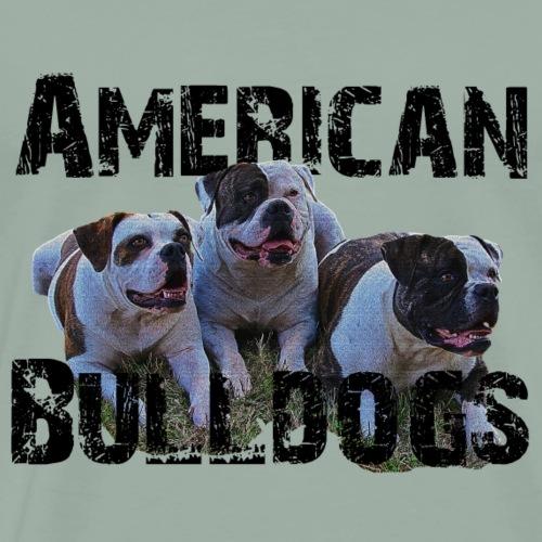 Bulldogs,dog holder, dog lover, animals, dogs - Men's Premium T-Shirt