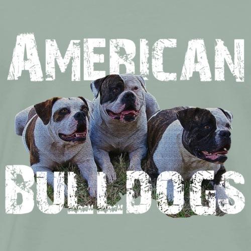 Bulldogs,dog holder, dog lover, animals, watchdog - Men's Premium T-Shirt