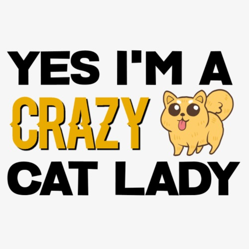 Crazy Cat Lady Design - Men's Premium T-Shirt