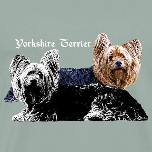 Yorkshire, Terrier, dog lovers,animal lover,dogs, - Men's Premium T-Shirt